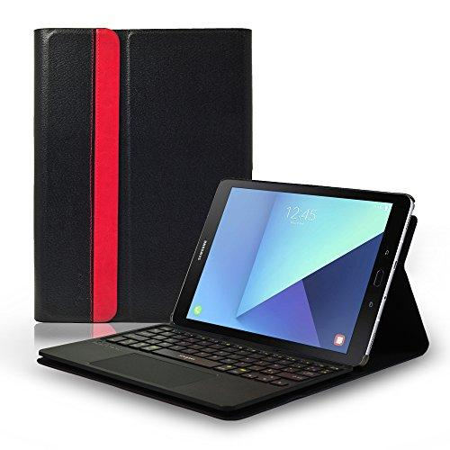 Samsung Galaxy Tab S3 9.7 Case Cover with Wireless Bluetooth Keyboard, Multitouch Touchpad, French AZERTY Layout, for Samsung Galaxy Tab S3 9.7 inch SM-T820 (WiFi), SM T825 (3G/LTE)