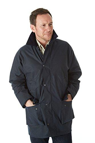 Sherwood Forest Unisex's Traditional Wet Wax Jacket-Navy, 6X-Large