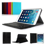 SymbolLife iPad mini 1/2/3 Keyboard Case - Ultra Slim Shell Lightweight Cover with Magnetically Detachable Wireless Bluetooth Keyboard UK Layout for iPad mini 3 / iPad mini 2 / iPad mini 1, Black