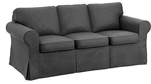 The Sofa Cover Is 3 Seat Sofa Slipcover Replacement. It Fits Pottery Barn PB Basic Three Seat Sofa (Dark Gray)