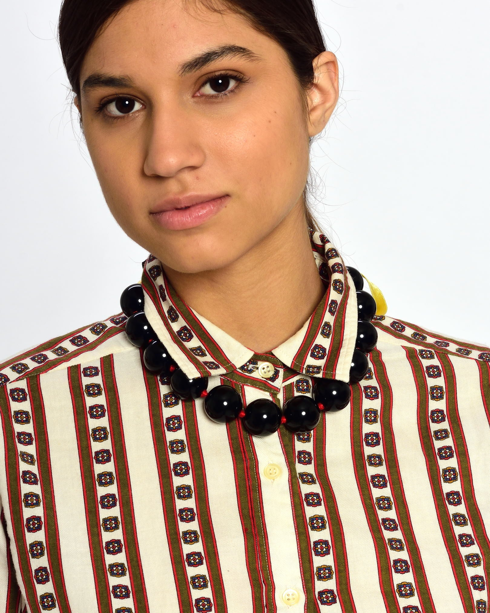 MOSCHINO Pearls and Multicolor Ribbons Necklace