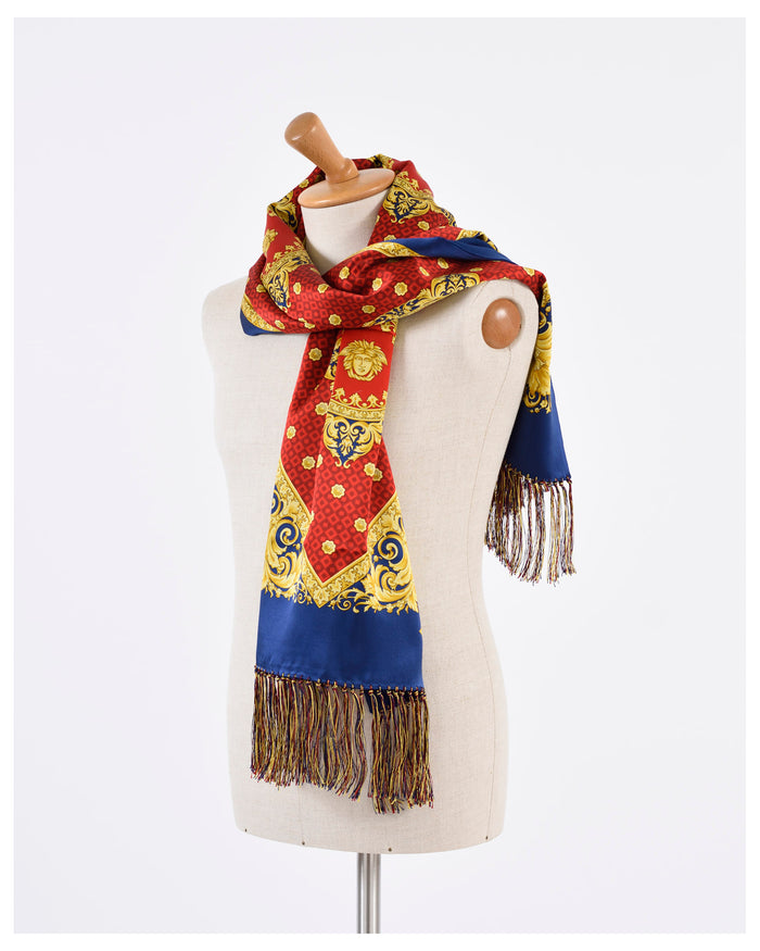 GIANNI VERSACE Silk and Wool Sash Scarf
