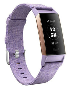 Fitbit charge 3 purple nylon strap
