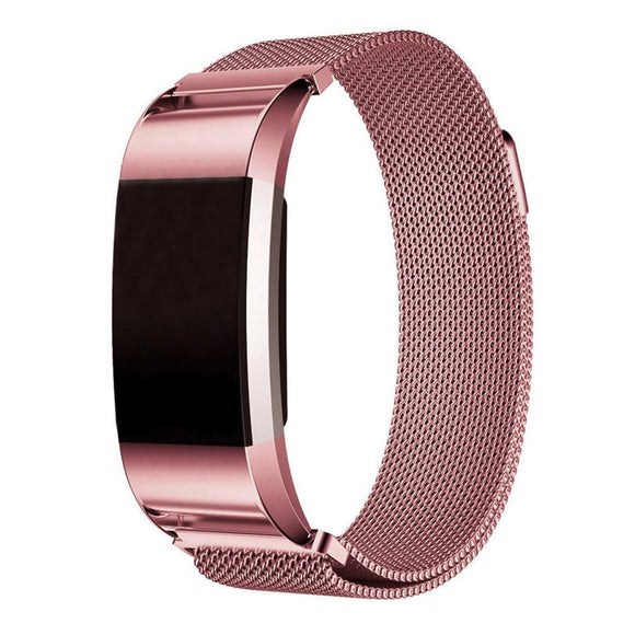 Fitbit Charge 2 Pink Metallic Replacement Strap