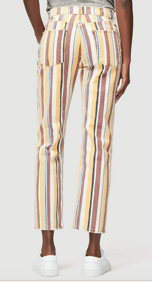 Frame Le High Straight Painterly Stripe | 4sisters1closet
