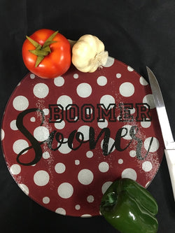 OU - Round Glass Cutting Board
