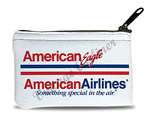 American Airline / American Eagle Logo Bag Sticker Rectangular Coin Purse