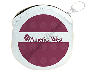 America West Logo Round Coin Purse