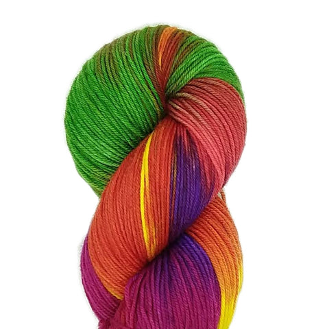 Rainbow Candy colorway;<br>SuperSock+;<br>Sock Weight Yarn;<br>SW Merino-Nylon