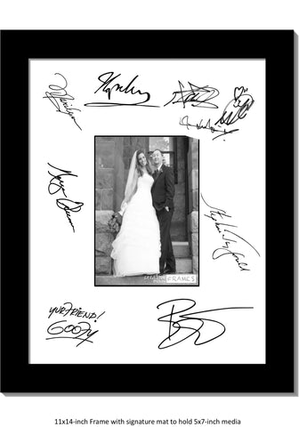 Signature Board 11x14 White Mat with 5x7 Photo Opening