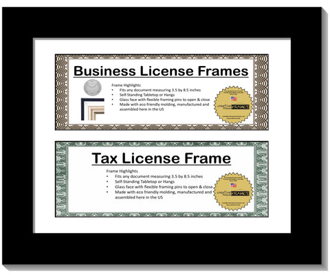 3.5x8.5 Double License Frame with Mat
