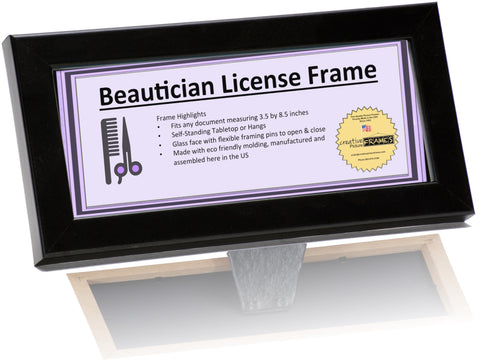 4x9 Cosmetology License Frame