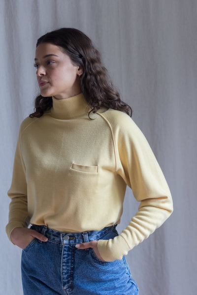 Warm Canary Yellow Vintage Sweater