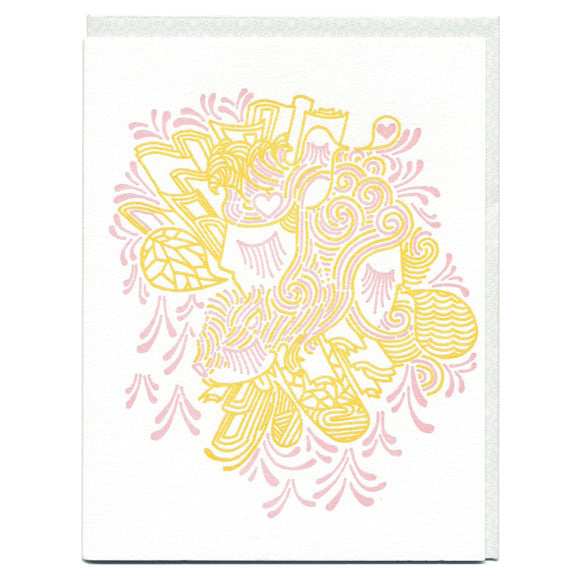 Love Birds Letterpress Card by Studio on Fire