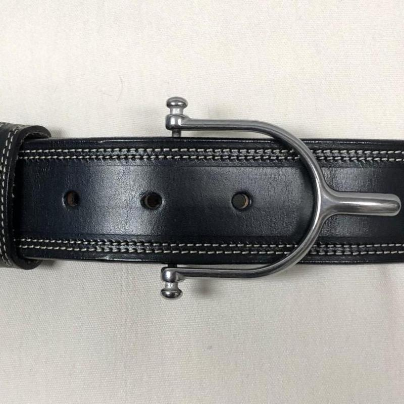 Tory Leather Belt with Stainless Steel Spur Buckle