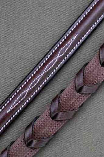 Red Barn Stealth Laced Rubber Reins