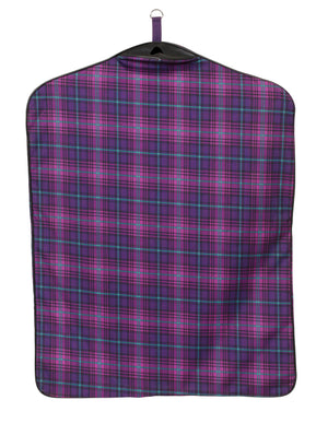 centaur garment bag orchid plaid