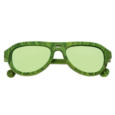Spectrum Morrison Wood Polarized Sunglasses - Green/Green SSGS108GY