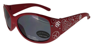 K7801QS Red Butterfly Kids Sunglasses