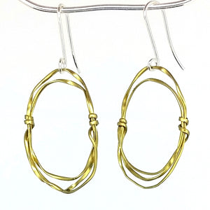 BE1m Brass Earrings Medium