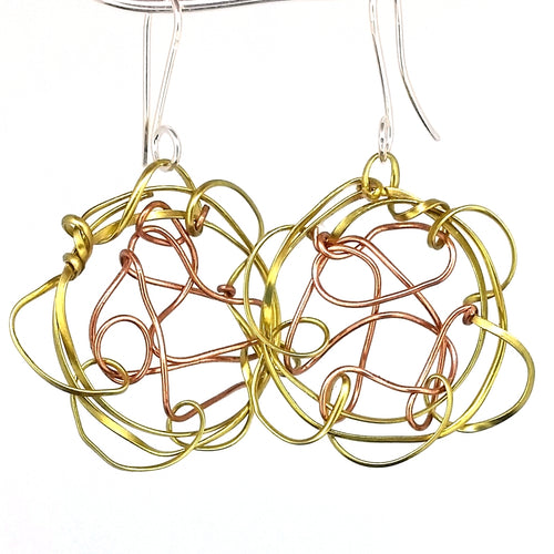 BCE1 Mixed Metal Earrings
