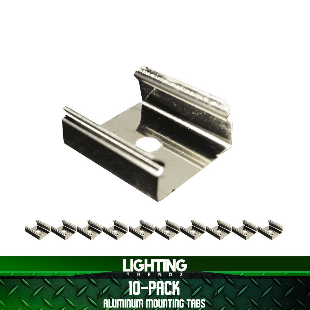 10-Pack Aluminum Mounting Tabs