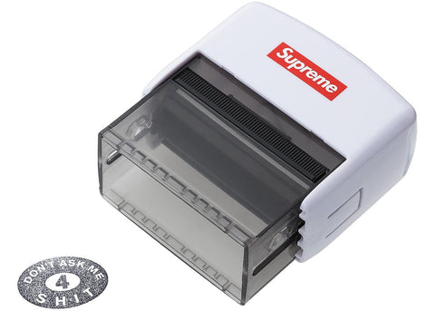 Supreme Dont Ask Me 4 Shit Stamp White