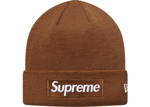 Supreme New Era Box Logo Beanie (FW16) Brown