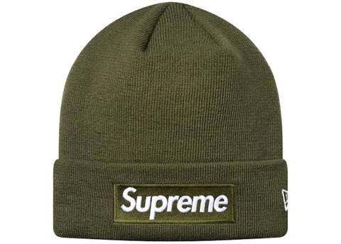 Supreme New Era Box Logo Beanie Olive Green