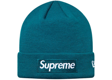 Supreme New Era Box Logo Beanie Teal