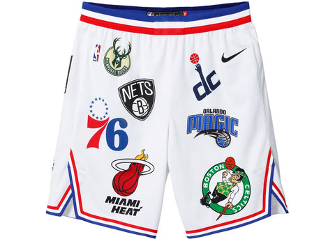 Supreme Nike/NBA Teams Authentic Short White