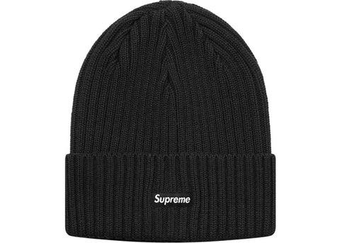 Supreme Overdyed Ribbed Beanie (SS18) Washed Black