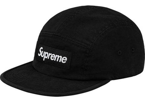 Supreme Washed Chino Twill Camp Cap (SS18) Black