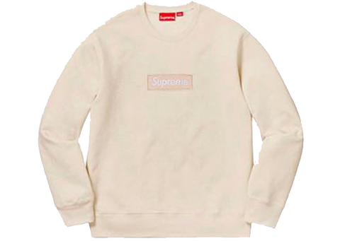 Supreme Box Logo Crewneck FW18 Natural