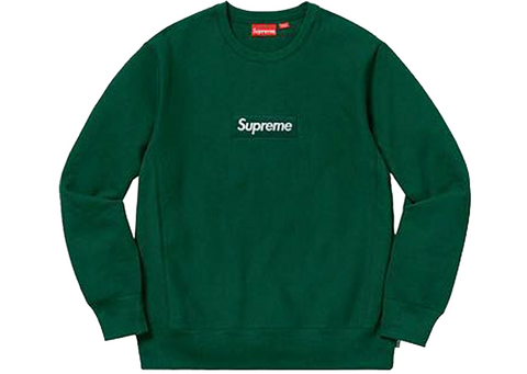 Supreme Box Logo Crewneck FW18 Dark Green