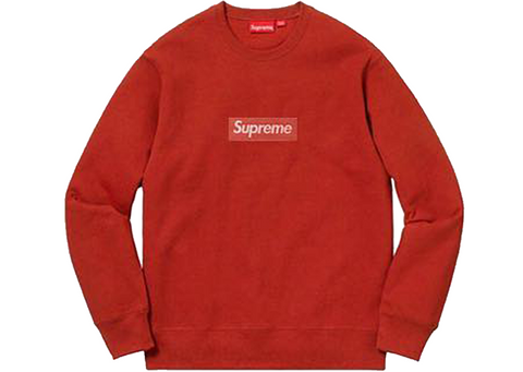 Supreme Box Logo Crewneck FW18 Red