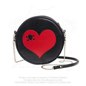 Alchemy Gothic Heart Skull Purse Bag from Gothic Spirit
