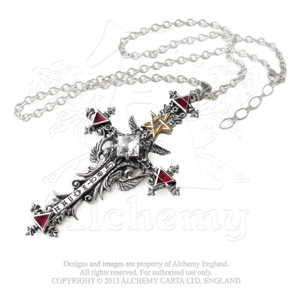 Alchemy Gothic Illuminati Cross Pendant from Gothic Spirit