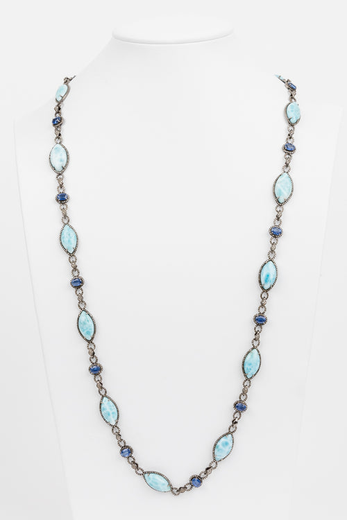 Larimar and Sapphire Necklace