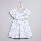 Dadati Blue Older Girls Dress - Arabella's Baby Boutique