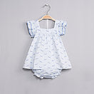 Dadati Blue Baby Dress Set - Arabella's Baby Boutique