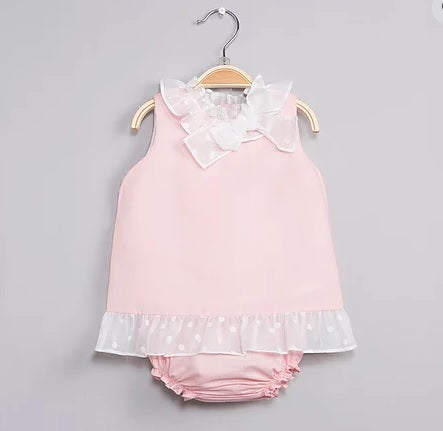 Dadati Pink Baby Dress Set - Arabella's Baby Boutique