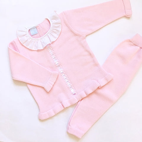 Pink Granlei Knitted Tracksuit - Arabella's Baby Boutique