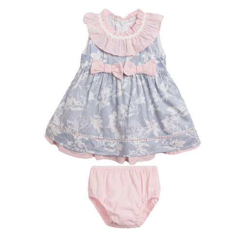 Newness Pink & Grey Baby Dress Set - Arabella's Baby Boutique