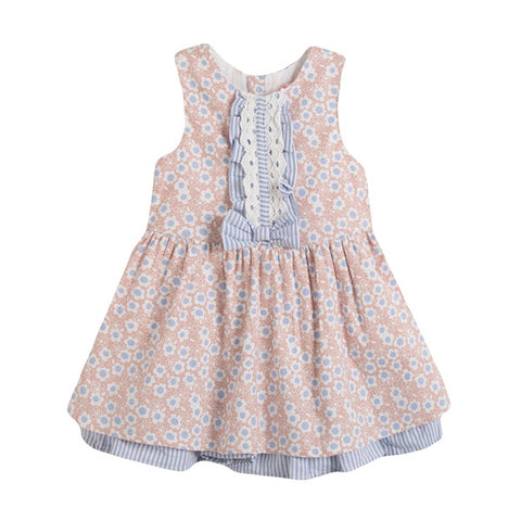 Newness Pink & Blue Dress - Arabella's Baby Boutique