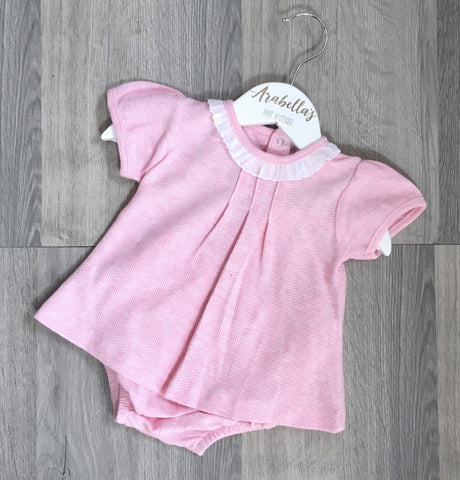 'Chelsea' Pink Cotton 2 Piece Oufit - Arabella's Baby Boutique