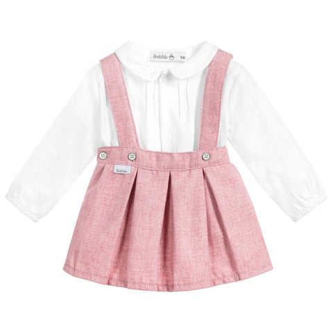 Babidu Pink & White Skirt Set - Arabella's Baby Boutique