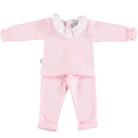 Babidu Pink Frill Neck 2 Piece Outfit - Arabella's Baby Boutique