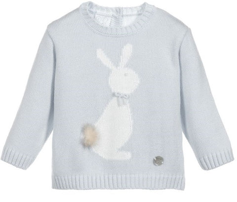 Granlei Knitted Bunny Jumper Grey - Arabella's Baby Boutique