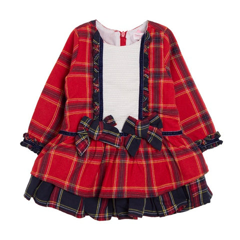 Newness Kids Red Tartan Baby Dress - Arabella's Baby Boutique